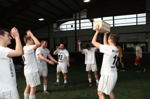Cheering players at the 2nd Hessian Championship
